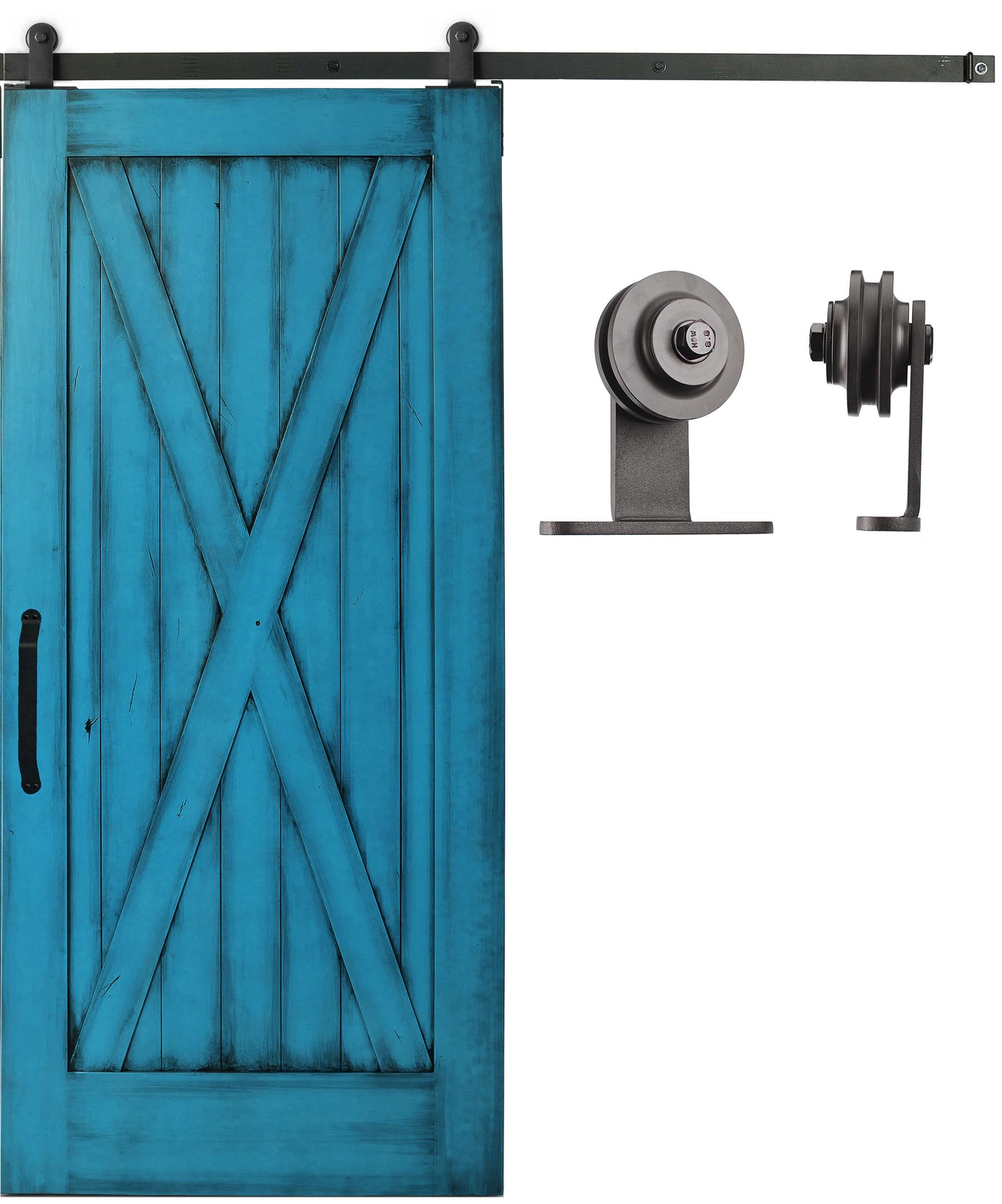 Sliding cabinet barn door hardware kit top mount roller 6 for Barn door rollers